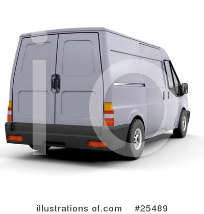 Delivery Van Clipart #25489 by KJ Pargeter