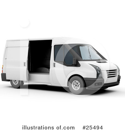 Delivery Van Clipart #25494 by KJ Pargeter