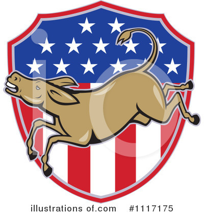 Royalty-Free (RF) Democrat Clipart Illustration by patrimonio - Stock Sample #1117175