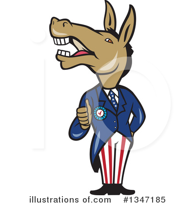 Democrat Clipart #1347185 by patrimonio