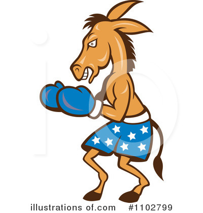 Democratic Donkey Clipart #1102799 by patrimonio