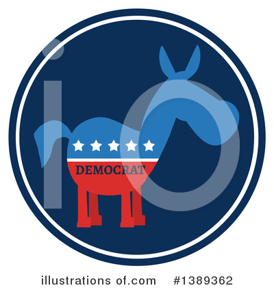 Democratic Donkey Clipart #1389362 by Hit Toon