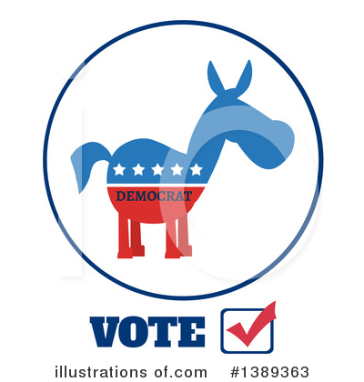Democratic Donkey Clipart #1389363 by Hit Toon