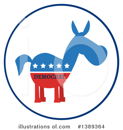 Democratic Donkey Clipart #1389364 by Hit Toon