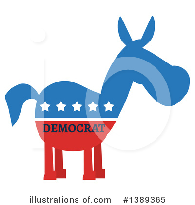 Democratic Donkey Clipart #1389365 by Hit Toon