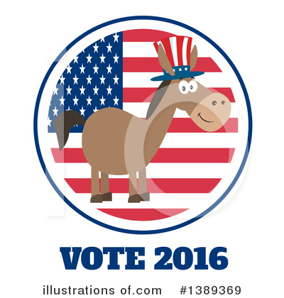 Democratic Donkey Clipart #1389369 by Hit Toon