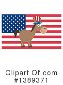 Democratic Donkey Clipart #1389371 by Hit Toon