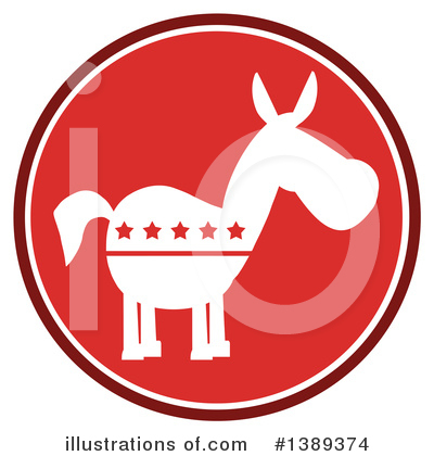 Democratic Donkey Clipart #1389374 by Hit Toon