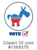 Democratic Donkey Clipart #1389375 by Hit Toon