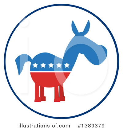Democratic Donkey Clipart #1389379 by Hit Toon