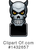 Royalty-Free (RF) Demon Skull Clipart Illustration #1432657