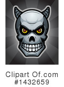 Royalty-Free (RF) Demon Skull Clipart Illustration #1432659