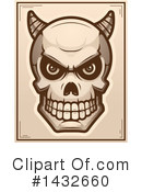 Royalty-Free (RF) Demon Skull Clipart Illustration #1432660