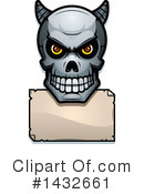 Royalty-Free (RF) Demon Skull Clipart Illustration #1432661