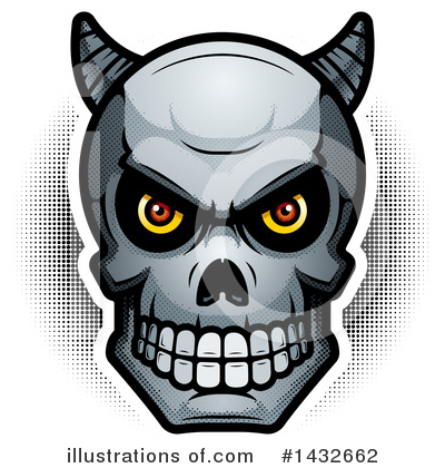 Royalty-Free (RF) Demon Skull Clipart Illustration by Cory Thoman - Stock Sample #1432662