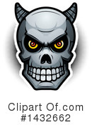 Demon Skull Clipart #1432662