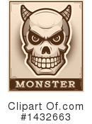 Royalty-Free (RF) Demon Skull Clipart Illustration #1432663