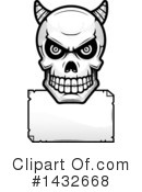 Royalty-Free (RF) Demon Skull Clipart Illustration #1432668