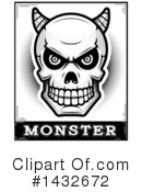 Royalty-Free (RF) Demon Skull Clipart Illustration #1432672