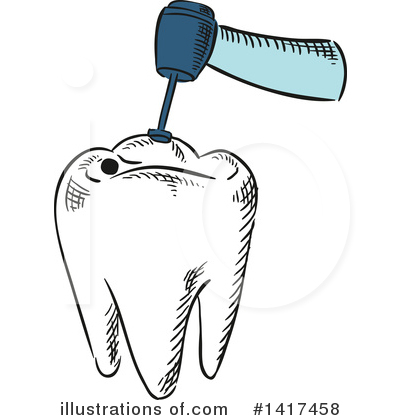 Tooth Clipart #1417458 by Vector Tradition SM