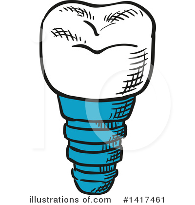 Tooth Clipart #1417461 by Vector Tradition SM