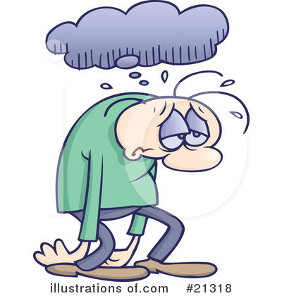 Royalty-Free (RF) Depressed Clipart Illustration by gnurf - Stock ...