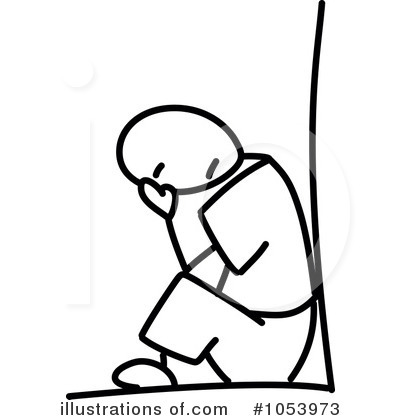 Royalty-Free (RF) Depression Clipart Illustration by Frog974 - Stock Sample #1053973