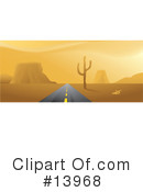 Royalty-Free (RF) Desert Clipart Illustration #13968