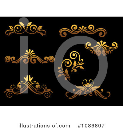 Gold Design Elements Clipart #1086807 by Vector Tradition SM