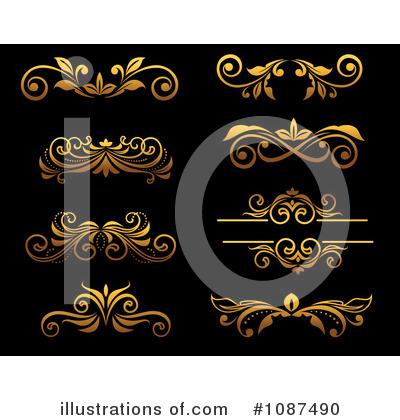 Gold Design Elements Clipart #1087490 by Vector Tradition SM