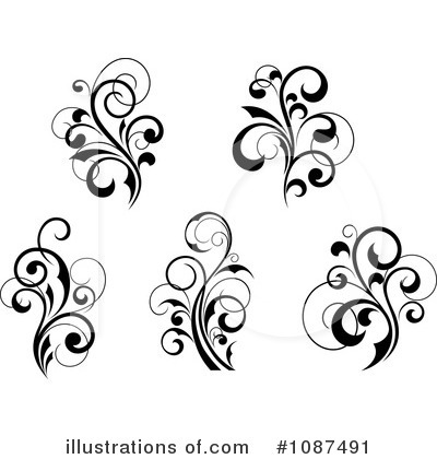 Flourish Clipart #1087491 by Vector Tradition SM