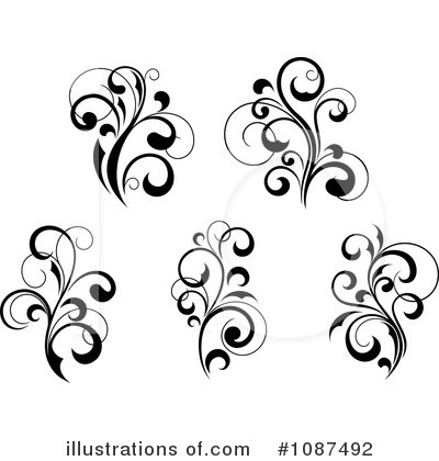 Flourish Clipart #1087492 by Vector Tradition SM