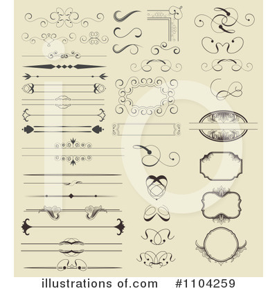 Royalty-Free (RF) Design Elements Clipart Illustration by vectorace - Stock Sample #1104259