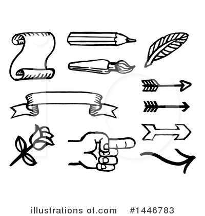 Feather Quill Clipart #1446783 by AtStockIllustration