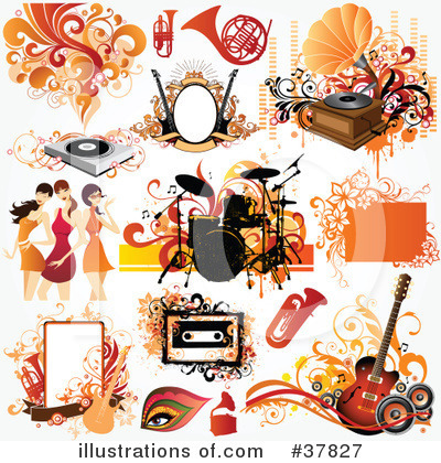 Record Player Clipart #37827 by OnFocusMedia