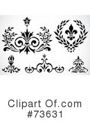 Royalty-Free (RF) Design Elements Clipart Illustration #73631