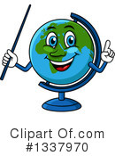 Royalty-Free (RF) Desk Globe Clipart Illustration #1337970