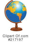 Desk Globe Clipart #217197 by Pushkin