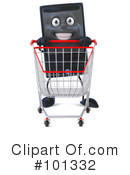 Royalty-Free (RF) Desktop Computer Clipart Illustration #101332