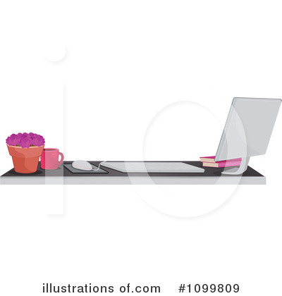 Royalty-Free (RF) Desktop Computer Clipart Illustration by Melisende Vector - Stock Sample #1099809