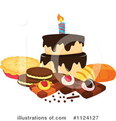 Birthday Cake Clipart #1124127 by Graphics RF