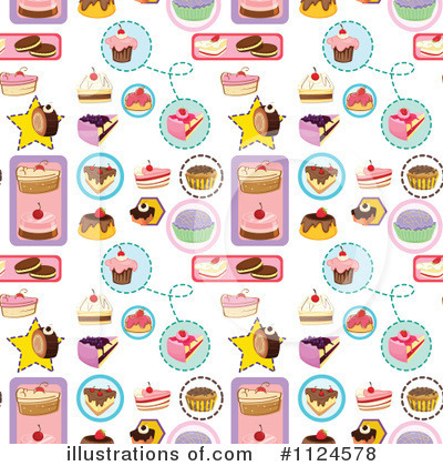 Dessert Clipart #1124578 - Illustration by colematt