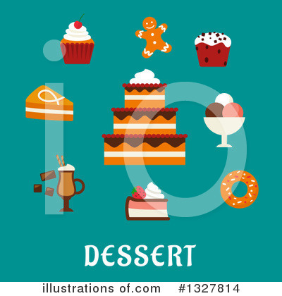 Milkshake Clipart #1327814 by Vector Tradition SM