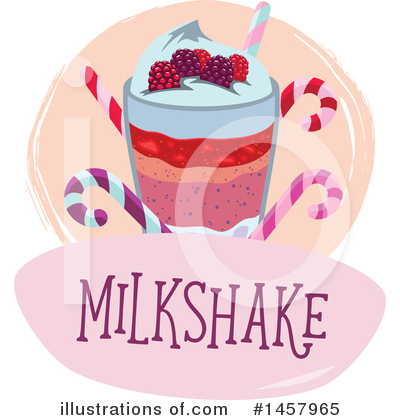 Milkshake Clipart #1457965 by Vector Tradition SM