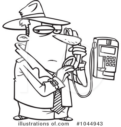 Detective Clipart Black And White