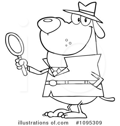 Detective Clip Art Black and White