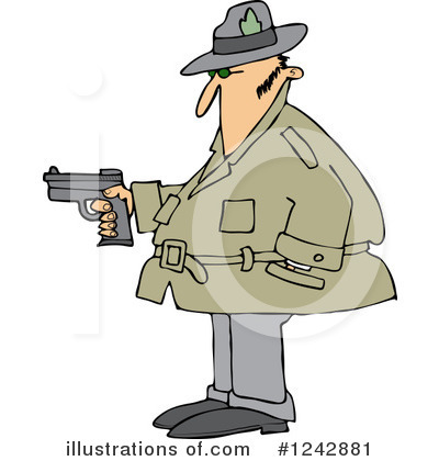 Royalty-Free (RF) Detective Clipart Illustration by djart - Stock Sample #1242881