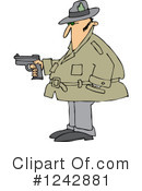 Royalty-Free (RF) Detective Clipart Illustration #1242881