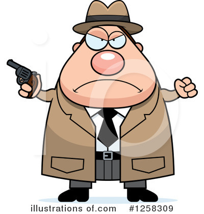 Detective Clipart #1258309 by Cory Thoman