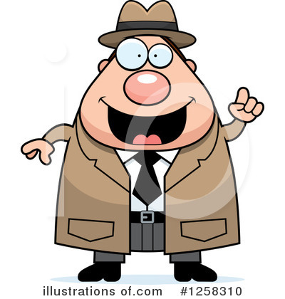 Royalty-Free (RF) Detective Clipart Illustration by Cory Thoman - Stock Sample #1258310
